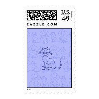 Gato púrpura sello