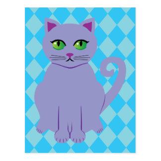 Gato púrpura postales