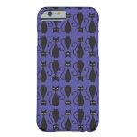 Gato púrpura y negro Patterncase del gótico