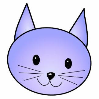 Gato purpúreo claro escultura fotográfica