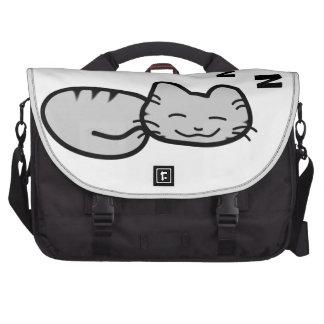 Gato que alcanza en sus ZZZ Bolsas De Portatil