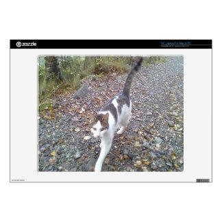Gato que camina skins para portátil
