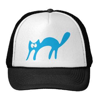 Gato que camina sobre los ojos azules de Topsy Tur Gorros