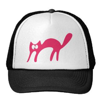 Gato que camina sobre los ojos rosados de Topsy Tu Gorros
