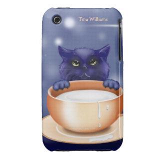 Gato que consigue el caso del iPhone 3 de la leche Funda Bareyly There Para iPhone 3 De Case-Mate