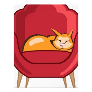 Gato que duerme en butaca membretes personalizados