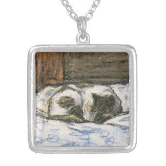Gato que duerme en una cama de Claude Monet Joyeria Personalizada