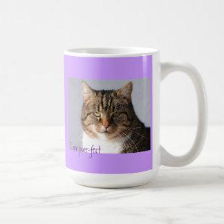 gato que es ronroneo-fect taza de café