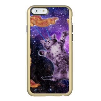 Gato que fríe el tocino con el laser del ojo funda para iPhone 6 plus incipio feather shine