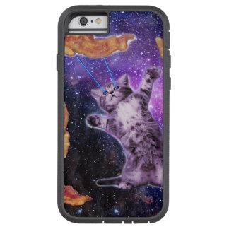 Gato que fríe el tocino con el laser del ojo funda tough xtreme iPhone 6