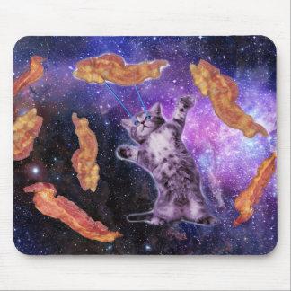 Gato que fríe el tocino con el laser del ojo tapete de raton
