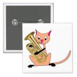 Gato que juega el Euphonium Pin