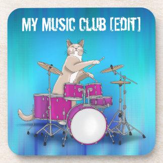 Gato que juega los tambores - práctico de costa posavaso