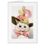 Gato que lleva un gorra, Louis Wain Tarjeton