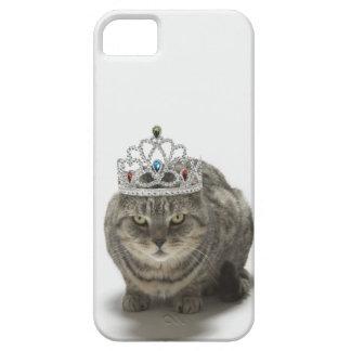 Gato que lleva una tiara iPhone 5 carcasa