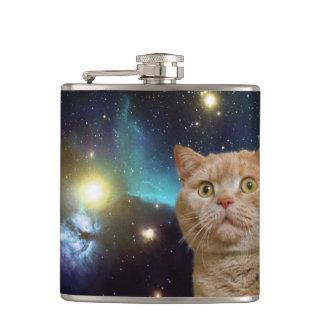 Gato que mira fijamente el universo petaca