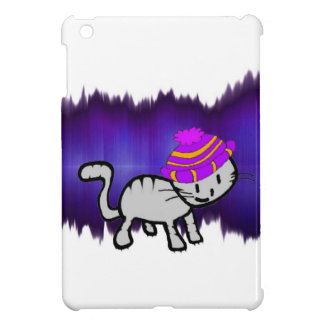 Gato que modela un gorra que pega la actitud iPad mini protector