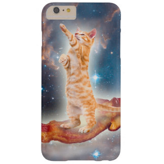 Gato que practica surf del tocino en el universo funda de iPhone 6 plus barely there