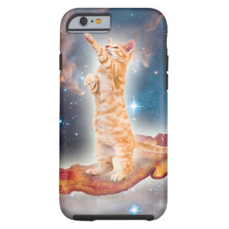 Gato que practica surf del tocino en el universo funda para iPhone 6 tough