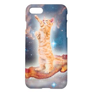 Gato que practica surf del tocino en el universo funda para iPhone 7