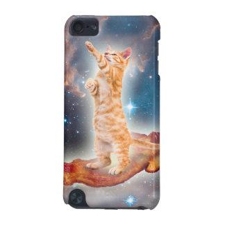 Gato que practica surf del tocino en el universo funda para iPod touch 5