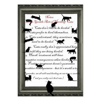 Gato que reúne - tarjeta de visita de la gestión