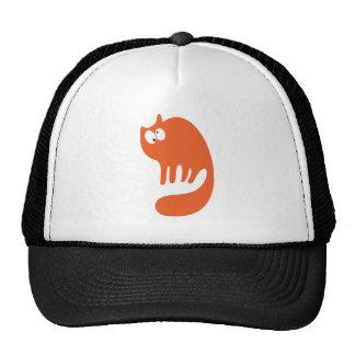 Gato que ronronea los ojos anaranjados de Topsy Tu Gorras De Camionero