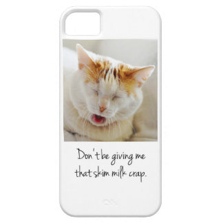 Gato que se queja lindo iPhone 5 fundas