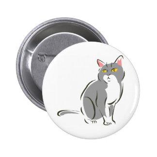 Gato que se sienta gris pin