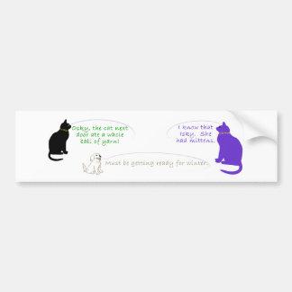 Gato que tenía la pegatina para el parachoques de  pegatina de parachoque