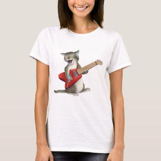 Gato que toca la guitarra playera