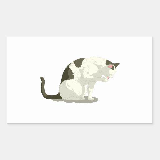 Gato que toma un baño rectangular altavoces