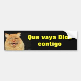 Gato - Que Vaya Dios Contigo (May God Go With You) Bumper Sticker