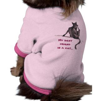 Gato rasca camiseta con mangas para perro
