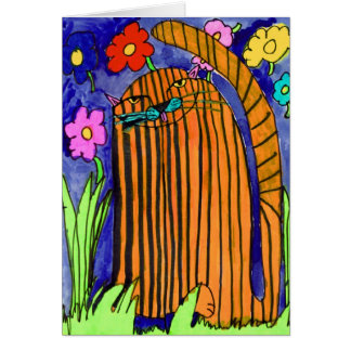 Gato rayado • Bianca Saad, envejece 8 - tarjeta