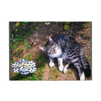 Gato rayado blanco y negro iPad mini fundas