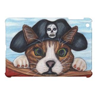 Gato rayado sorprendido lindo de Brown del pirata