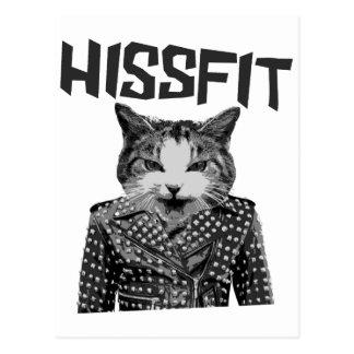 Gato rebelde del gatito de la cosa mal encajada de postal