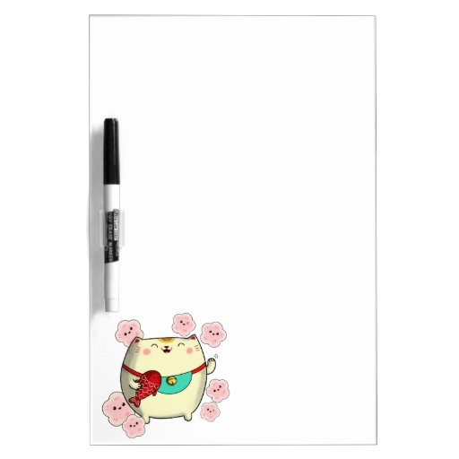 Gato redondo lindo de Maneki Neko Pizarra