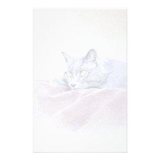 gato, relajándose papelería de diseño