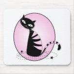 Gato retro alfombrillas de ratón