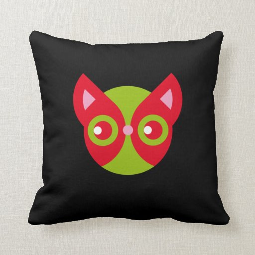 Gato rojo almohada
