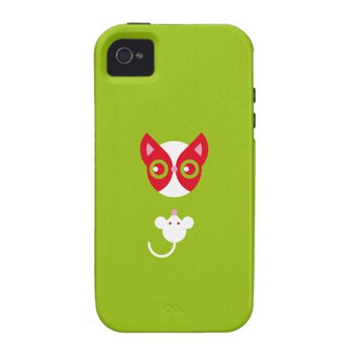 Gato rojo Case-Mate iPhone 4 funda