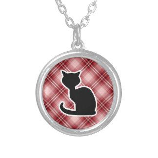 Gato rojo de la tela escocesa grimpolas personalizadas