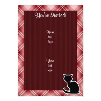 Gato rojo de la tela escocesa