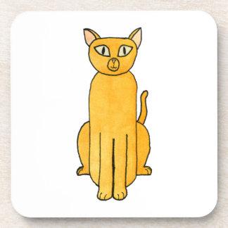 Gato rojo de Shorthair del jengibre Posavaso