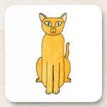 Gato rojo de Shorthair del jengibre Posavasos