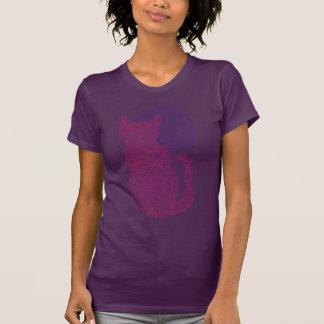 Gato rojo de Z y la camiseta de la luna