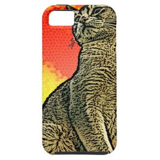 Gato rojo iPhone 5 carcasas