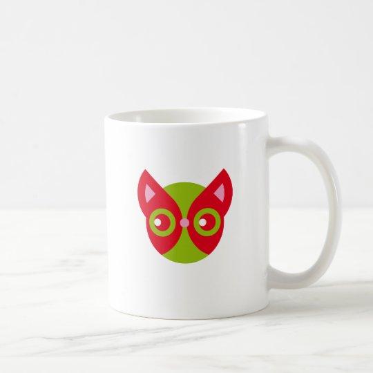 Gato rojo taza de café